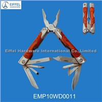 New product/High Quality  Multi Plier with Wood Handle/closed size 9.3cm L (EMP06SS0003)