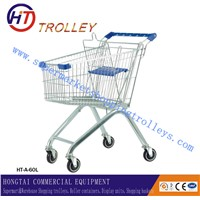 Standard European Metal Chrome Shopping Trolley With Baby Chair