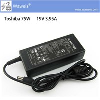 Waweis AC Adapter Charger 19V 3.95A for Toshiba Satellite A105-S3611 M60-103 NEW