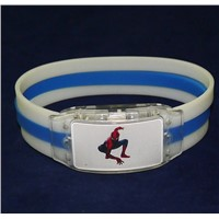 Custom logo OEM LED light silicone bracelet