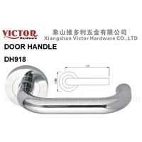 European Australian Zinc Alloy Lever Door Handle on rose Double sided Furniture Hardware