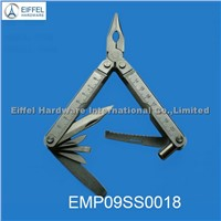 Big size stainless steel multi plier with ruler on handle,closed size 10.6cm L(EMP06SS0018)