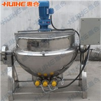 Jacketed kettle with agitator