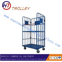 Metal Rolling Storage Wire Mesh Container Roll Container