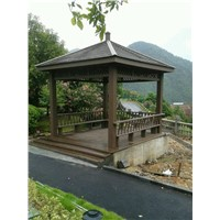 Antique wood plastic composite engineered pavilion
