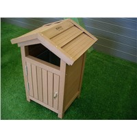Eco waterproof and durable WPC garbage can