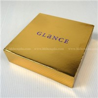 Foldable Golden Paper Box