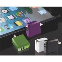 US Plug Foldable Dual USB mobile travel charger
