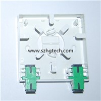 Mini fiber optic terminal box with 2pcs sc adapter