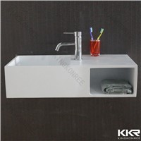 Newest design acrylic solid surface wall hung basin