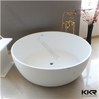 Popular acrylic solid surface round bathtub