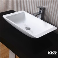 Solid Surface Bathroom Wash Basin / Bathroom Sink