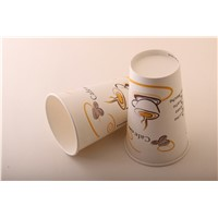 16OZ/480ML Custom Logo Printed Disposable Paper Coffee Cups And Lids  Wholesale Price