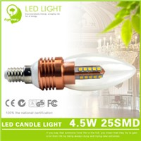 Bullet Type 4.5W LED Candle Light with E14 Lamp Base