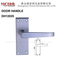 European Australian Zinc Alloy Lever Door Handle on Backplate Double sided China door accessories