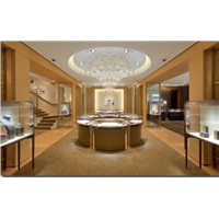 luxury exhibition display for jewerlly, perfume,bag, garment, watch display  cabinet