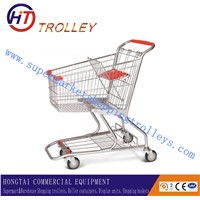 Chrome Plated 80L American Grocery Shopping Carts For Sale
