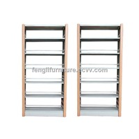 Double Sided Library Book Display Shelf
