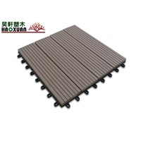 WPC decking tiles.(100% recycled, environmental friendly, saving forest resources)