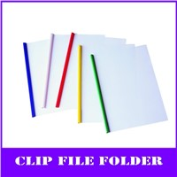 clear a4 pp slide grip report cover folder