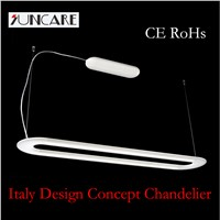 modern design italy style LED runways shape aluminum chandelier pendant lamp