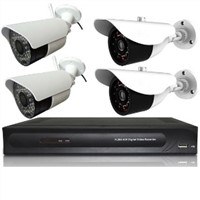 2 wireless camera&2 wired cameras+4 channel DVR kit