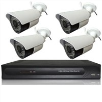 4 channel DVR+4 wireless cameras kit