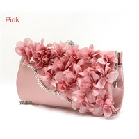 flower and diamond small day clutch bag.nice evening bags for lady