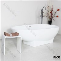 Freestanding Moder solid surface bathtub for hotel project
