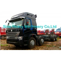 ISO CCC SINOTRUK HOWO A7 8x4 420HP Box Stake Truck/Cargo Truck  EURO2/3   351-450hp   (Hot sales)