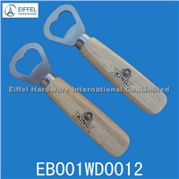 Hot sale beer bottle opener with wood handle (EBO01WD0012)
