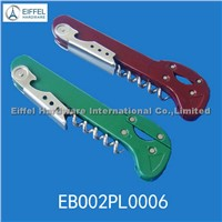 Red wine opener with cutter ,handle color can be customized(EBO02PL0006)