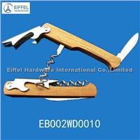 Promotional waiters' corkscrew  with wood handle (EBO02WD0010)