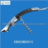 High quality bottle opener with black wood handle(EBO02WD0015)