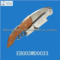 New ! High quality two step bottle opener with wood handle(EBO03WD0033)
