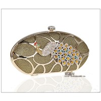 peacock diamond clutch purse bag. women fashion handbag.lady handbag purse bag