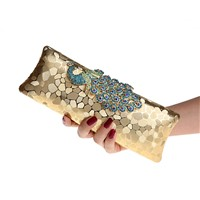 Beautiful Hot seller peacock small clutch bag.Fashion evening clutch bag