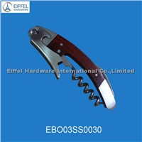 Hot sale bottle opener with flat wood surface (EBO03SS0030)