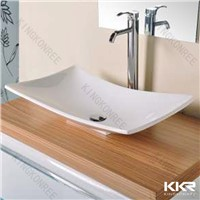 No bubble solid surface wash basin