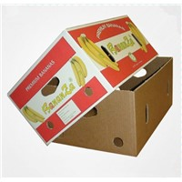 corrugated paper banana box