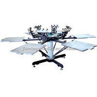 manual t shirt carousel screen printing machine