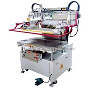 vertical semi auto glass screen printing machine