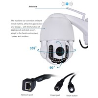 WANSCAM HW0039 Outdoor Dome 5x Zoom 2.8-12mm Lens Long IR Distance 1MP HD IP Camera