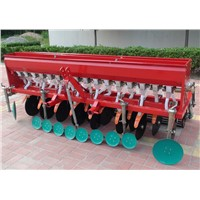 9 rows wheat  seeder and fertilizer
