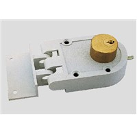 Jimmy proof rim night latch door lock