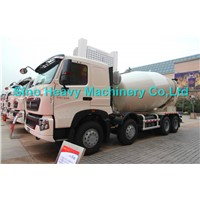 Sinotruk HOWO Concrete Mixer Truck 8cbm 6x4 EuroII With Italy Pto and Motor
