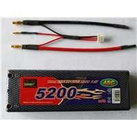 lithium polymer battery pack 5200mah with 50c discharge rate