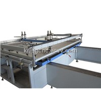 KRP1200*2400 Pneumatic flat screen printing press with guide line