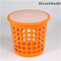 Plastic basket with lid mould