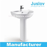 China Sanitary Ware Suppliers better price performance ratio bath room pedestal basin